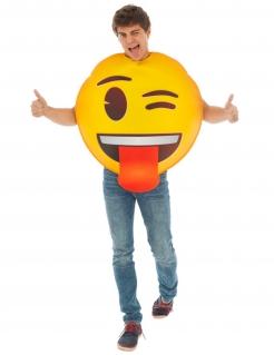 Zwinker-Emoji™ Faschingskostüm gelb-braun