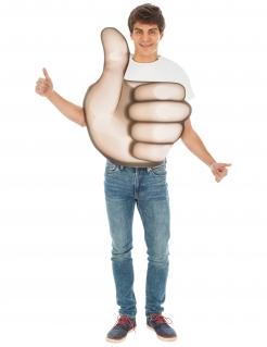 Emoji™-Kostüm Daumen hoch Faschingskostüm beige