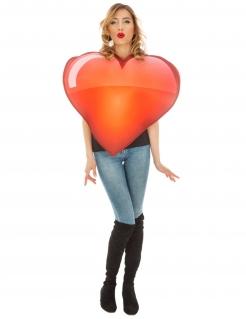 Emoji™-Herz-Kostüm Faschingskostüm rot