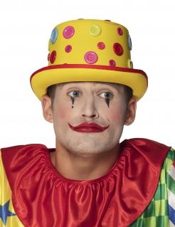 Bunter Knopf-Hut Clowns-Kostümaccessoire für Erwachsene