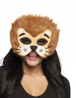 Löwen-Maske Halbmaske Kostüm-Accessoire für Damen