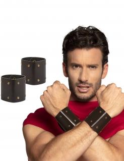 Römische Krieger-Armbänder Erwachsene 2 Stück braun