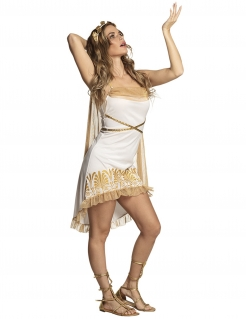 Sexy Göttin Kostüm für Damen Römer weiss-gold