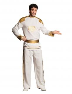 Charmanter Prinz Kostüm für Herren weiss-gold
