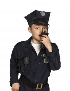 Polizisten-Walkie-Talkie für Kinder schwarz