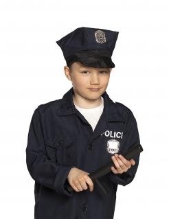 Polizei-Schlagstock für Kids Polizisten-Kostümzubehör schwarz