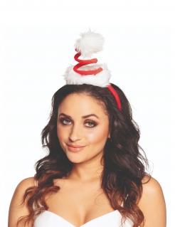 Spiralförmige Mini-Weihnachtsmütze weiss-rot