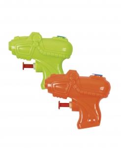 Mini-Wasserpistolen 2 Stück orange-grün 7 x 8 cm