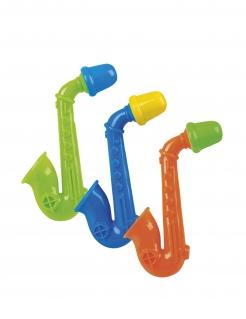 Mini Kunststoff-Saxophone für Pinata 3 Stück bunt 5 cm