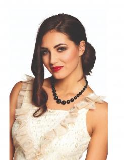 Elegante Perlen-Kette für Damen Accessoire schwarz