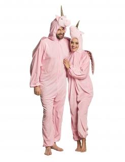 Traumhaftes Einhorn-Kostüm für Erwachsene unisex rosa
