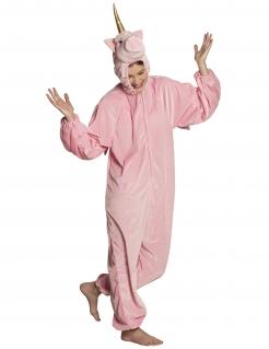 Einhorn-Kostüm Overall rosa