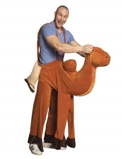 Kamel-Kostüm für Erwachsene Huckepack-Kostüm braun
