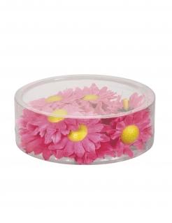 Kunstblumen Zinnien Tischdeko 20 Stück rosa-gelb