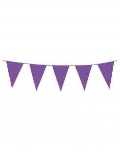 Miniwimpel-Girlande mit Wimpeln Partydeko lila 3m