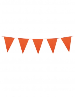 Girlande Mini-Wimpel Raumdeko orange 3m