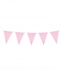 Girlande Mini-Wimpel Raumdeko rosa 3m