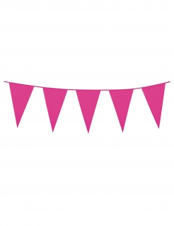Girlande Mini-Wimpel Raumdeko pink 3m