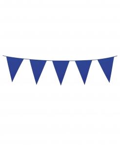 Girlande Mini-Wimpel Raumdeko dunkelblau 3m