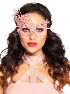 Augenmaske für Damen mit Spitzen-Muster rosa