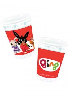 Bing™-Partybecher 8 Stück rot-bunt 266ml
