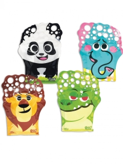 Seifenblasen-Handschuh Tiere mit Seifenlauge bunt 2x75ml