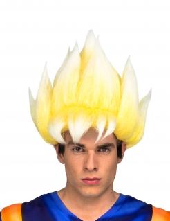 Super Saiyjan Goku™-Perücke für Herren Dragon Ball™ Kostüm-Zubehör blond
