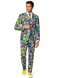 Mr. Super Mario™-Kostüm für Herren Opposuits™ Faschingskostüm bunt