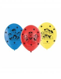 Paw Patrol™-Luftballons 6 Stück rot-blau-gelb 23cm