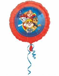Paw Patrol™-Luftballon Aluminium-Ballon Deko rot-blau 45cm