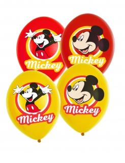 Mickey Maus™-Luftballons Partydeko 6 Stück gelb-rot 27,5cm