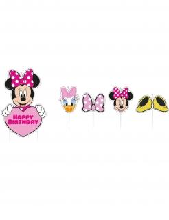 Minnie Maus™-Geburtstagskerzen Kuchendeko 17 Stück bunt