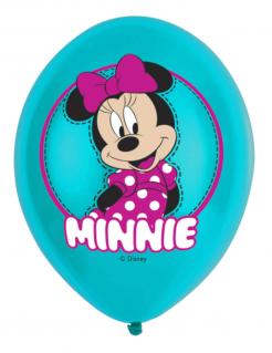 Minnie Maus™-Luftballons Dekoration 6 Stück pink 27,5 cm
