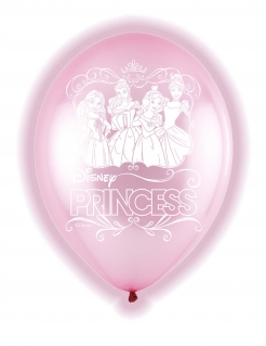 Disney™-Luftballons mit LED Prinzessinnen 5 Stück rosa 28cm