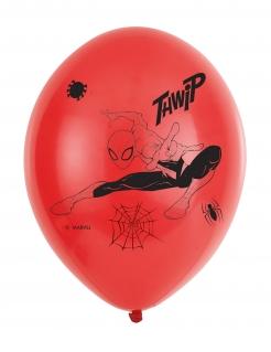 Spider Man™ Luftballon-Set 6 Stück rot-schwarz 27,5cm