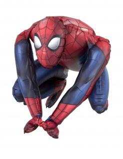 Spiderman™-Luftballon Aluminium Partydeko rot-blau 38x38cm