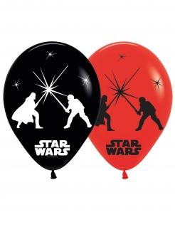 Star Wars™-Luftballons LED Partydeko 5 Stück rot-schwarz 28cm