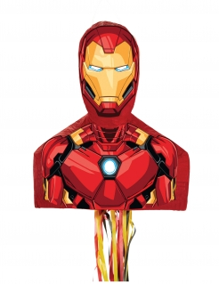 Iron Man™-Piñata Party-Dekoration rot-gelb 50x24x17 cm
