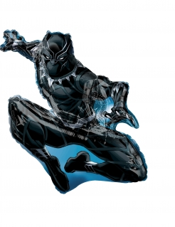 Black Panther™-Aluminiumballon schwarz 81 x 81 cm