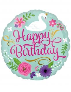 Geburtstag-Ballon Happy Birthday Geburtstag-Deko bunt 43 cm