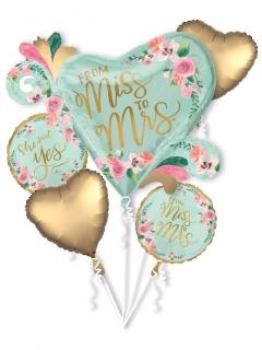 Hochzeits Luftballons-Set 5 teilig bunt