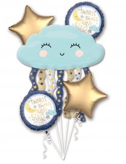 Luftballon-Strauß Wolke mit Sternen Kindergeburtstag 5-teilig bunt