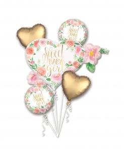 Luftballon-Strauß Sweet Baby Girl 5-teilig bunt