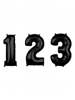 Zahlen-Luftballon Ziffern-Ballon für Geburtstage schwarz 66 cm