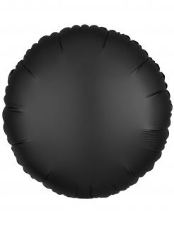 Aluminiumballon Folienballon rund schwarz 43cm
