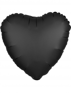 Herzballon für Hochzeit Valentinstag schwarz 43 cm
