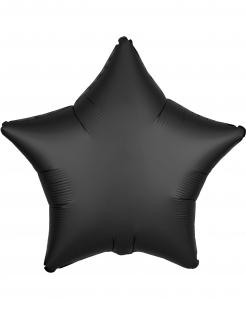Stern-Luftballon Dekoration matt-schwarz 43 cm