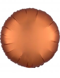 Runder Aluminium-Luftballon Partydeko braun 43 cm
