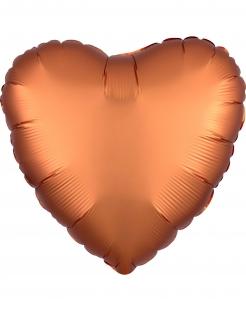 Aluminiumballon Herz kupferfarben 43 cm