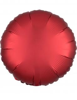 Runder Aluminium-Ballon rot 43 cm